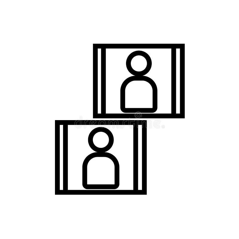 Vector del icono de la imagen aislado en el fondo, la muestra de la imagen, la línea y los elementos blancos del esquema en estil ilustración del vector