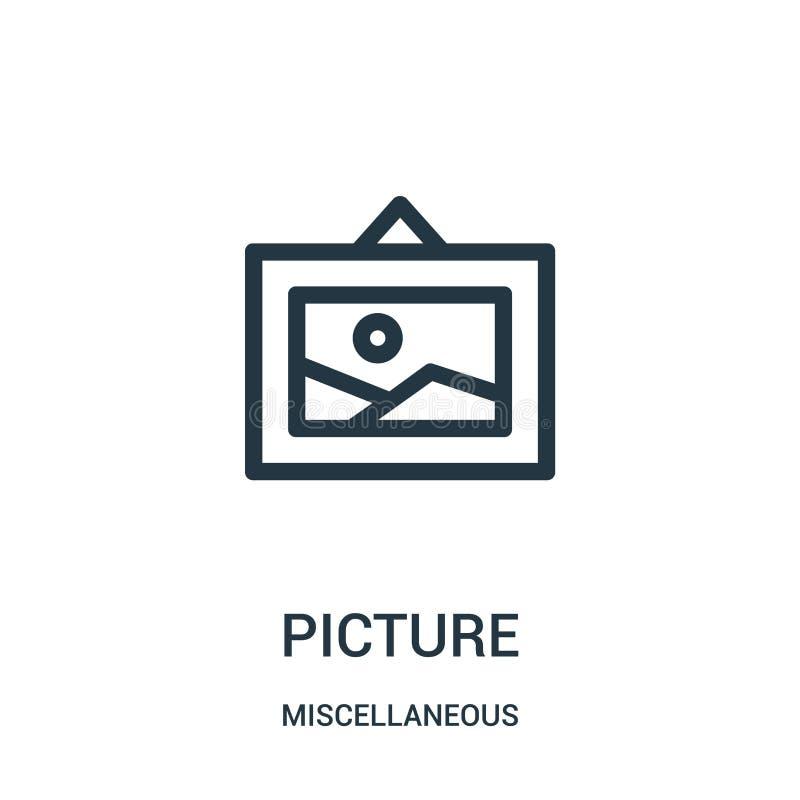 vector del icono de la imagen de la colección diversa Línea fina ejemplo del vector del icono del esquema de la imagen Símbolo li libre illustration