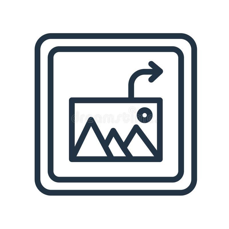 Vector del icono de la imagen del parte movible aislado en el fondo blanco, parte movible libre illustration