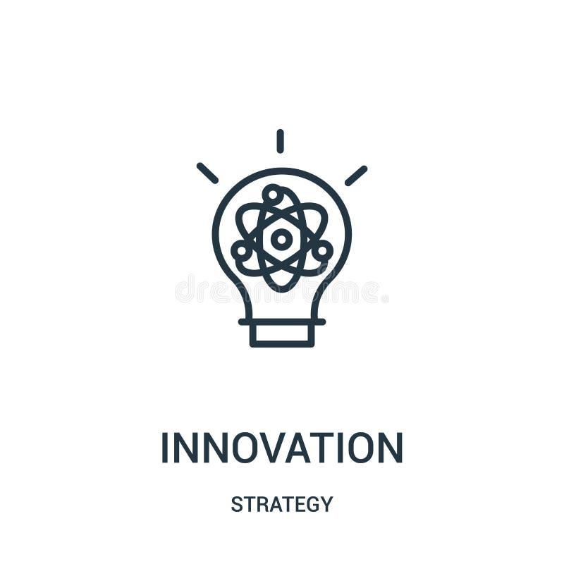 vector del icono de la innovación de la colección de la estrategia L?nea fina ejemplo del vector del icono del esquema de la inno ilustración del vector