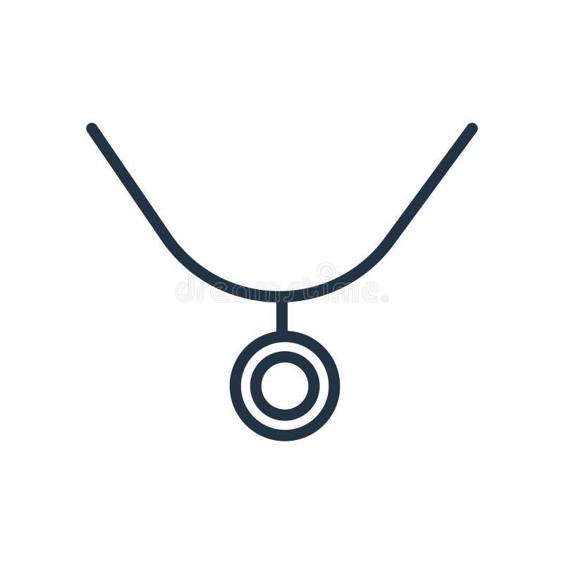 Vector del icono de la joyería aislado en el fondo blanco, muestra de la joyería stock de ilustración