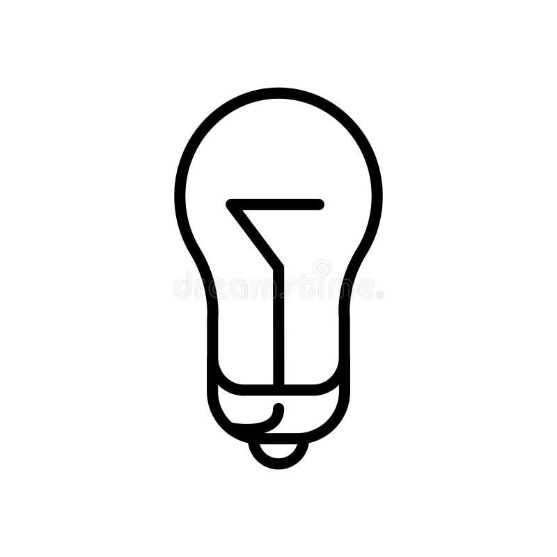 Vector del icono de la lámpara aislado en el fondo, la muestra de la lámpara, la línea y los elementos blancos del esquema en est ilustración del vector