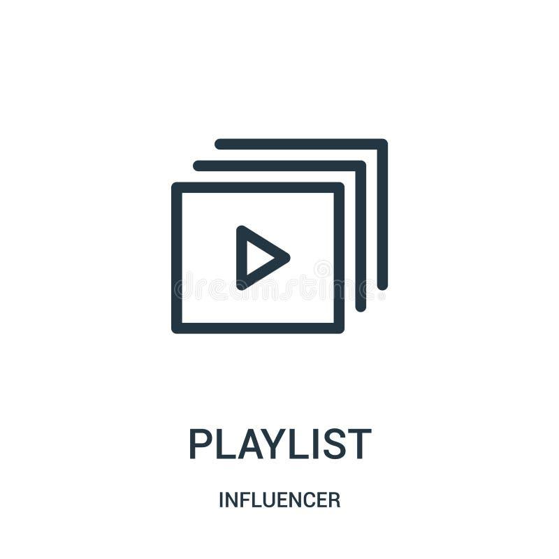 vector del icono de la lista de temas de la colección del influencer L?nea fina ejemplo del vector del icono del esquema de la li libre illustration
