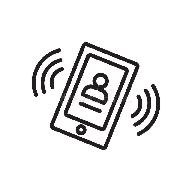 Vector del icono de la llamada de teléfono aislado en el fondo blanco, indicativo de teléfono stock de ilustración