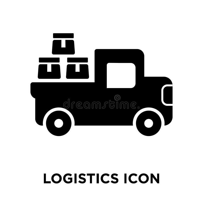Vector del icono de la logística aislado en el fondo blanco, concepto del logotipo ilustración del vector