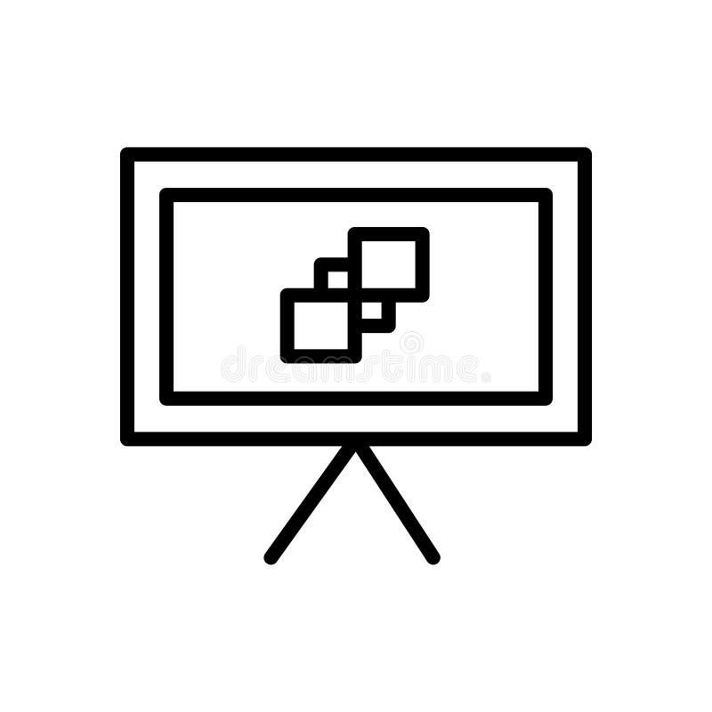 Vector del icono de la lona aislado en el fondo, la muestra de la lona, la línea y los elementos blancos del esquema en estilo li libre illustration