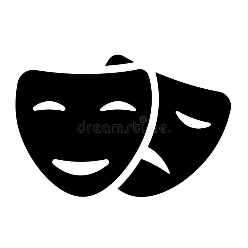 Vector del icono de la máscara de la comedia Ejemplo del elemento del logotipo diseño del símbolo de la muestra de la máscara de  libre illustration
