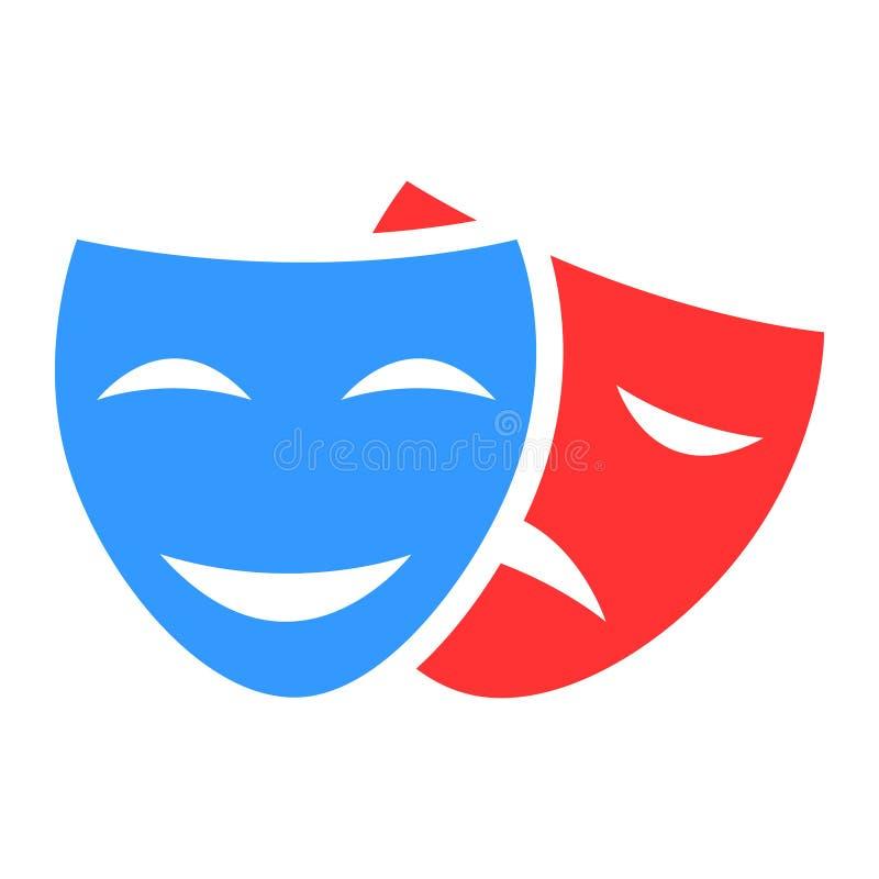 Vector del icono de la máscara de la comedia Ejemplo del elemento del logotipo diseño del símbolo de la muestra de la máscara de  ilustración del vector