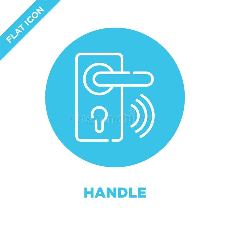 vector del icono de la manija de la colección casera elegante Línea fina ejemplo del vector del icono del esquema de la manija Sí libre illustration