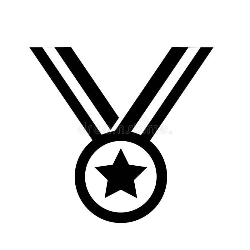 Vector del icono de la medalla ilustración del vector