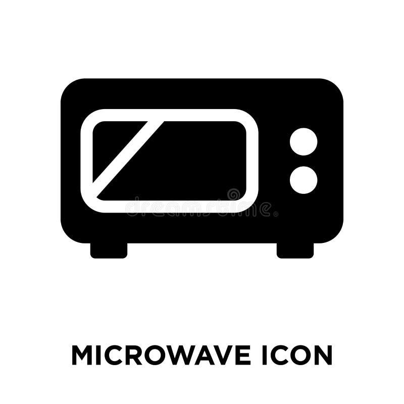 Vector del icono de la microonda aislado en el fondo blanco, concepto del logotipo ilustración del vector