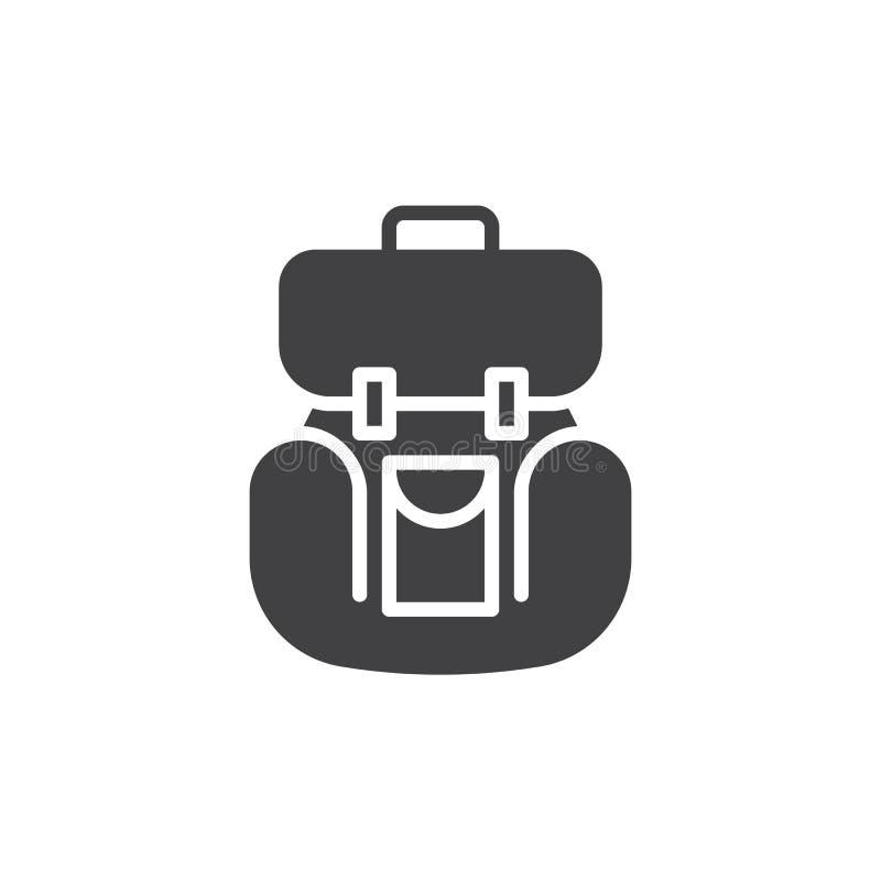 Vector del icono de la mochila stock de ilustración
