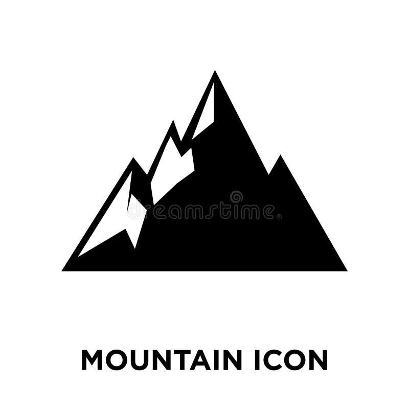 Vector del icono de la montaña aislado en el fondo blanco, concepto del logotipo ilustración del vector