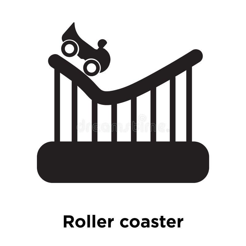 Vector del icono de la montaña rusa aislado en el fondo blanco, logotipo co ilustración del vector