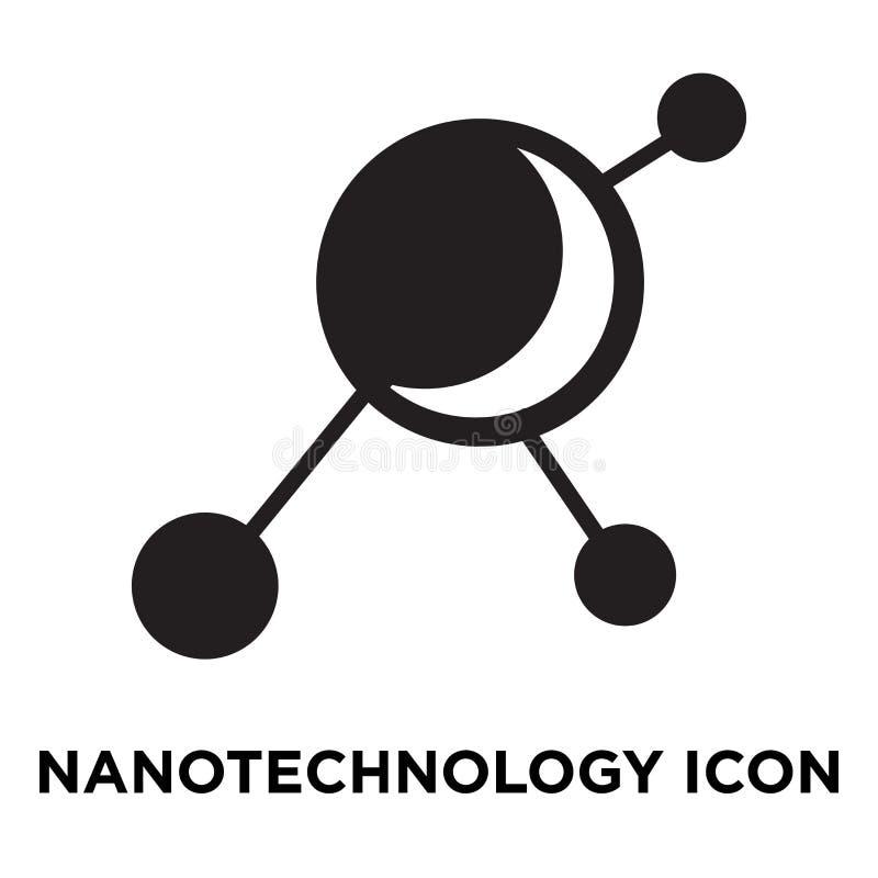 Vector del icono de la nanotecnología aislado en el fondo blanco, logotipo co stock de ilustración