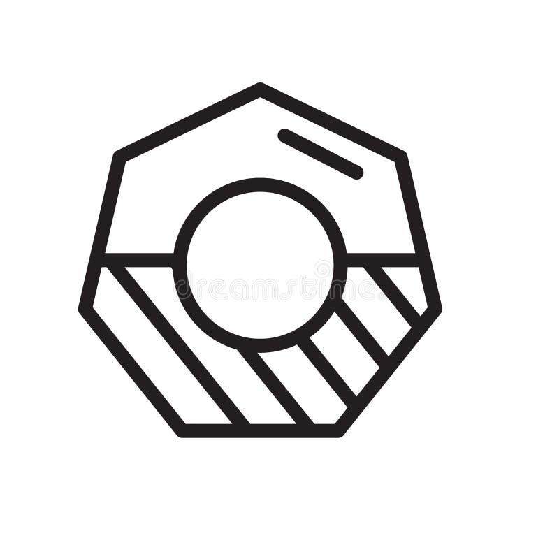 Vector del icono de la nuez aislado en el fondo blanco, la muestra de la nuez, la línea símbolo o el diseño linear del elemento e stock de ilustración