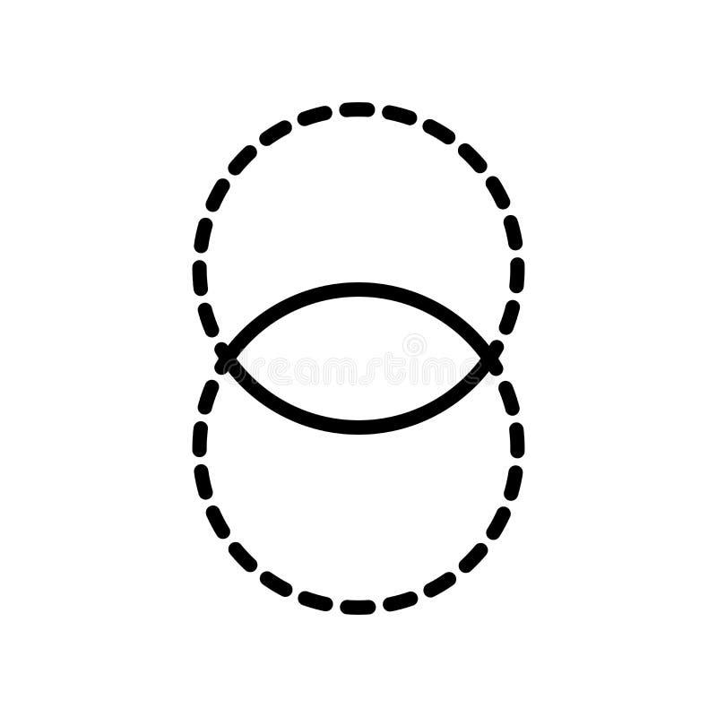 Vector del icono de la opacidad aislado en el fondo blanco, muestra de la opacidad ilustración del vector