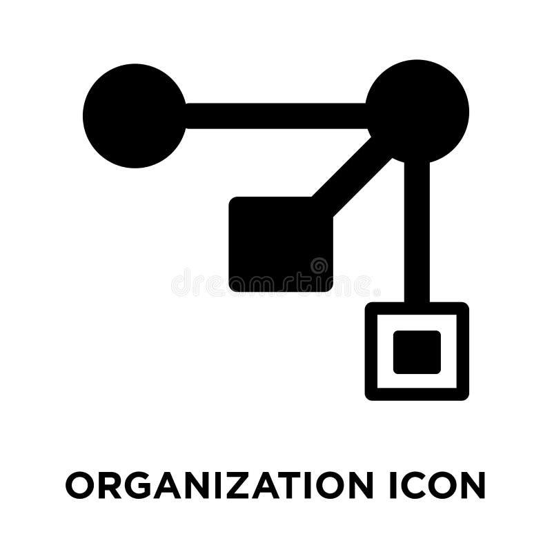 Vector del icono de la organización aislado en el fondo blanco, logotipo concentrado stock de ilustración