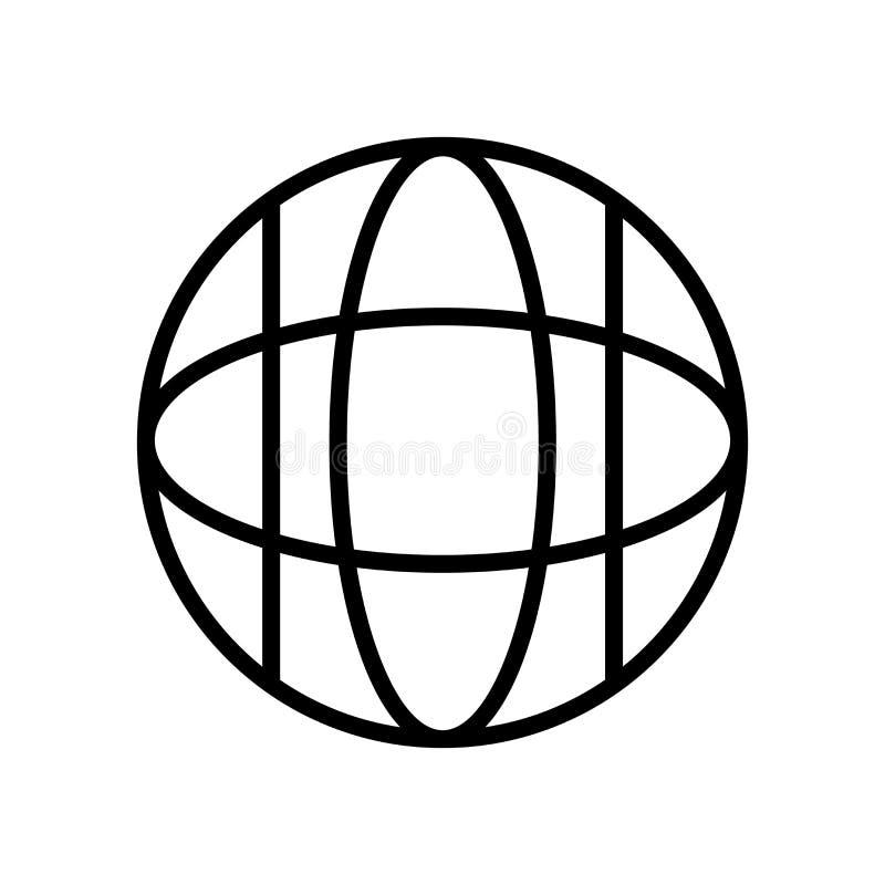 Vector del icono de la página web aislado en el fondo, la muestra de la página web, la línea y los elementos blancos del esquema  stock de ilustración