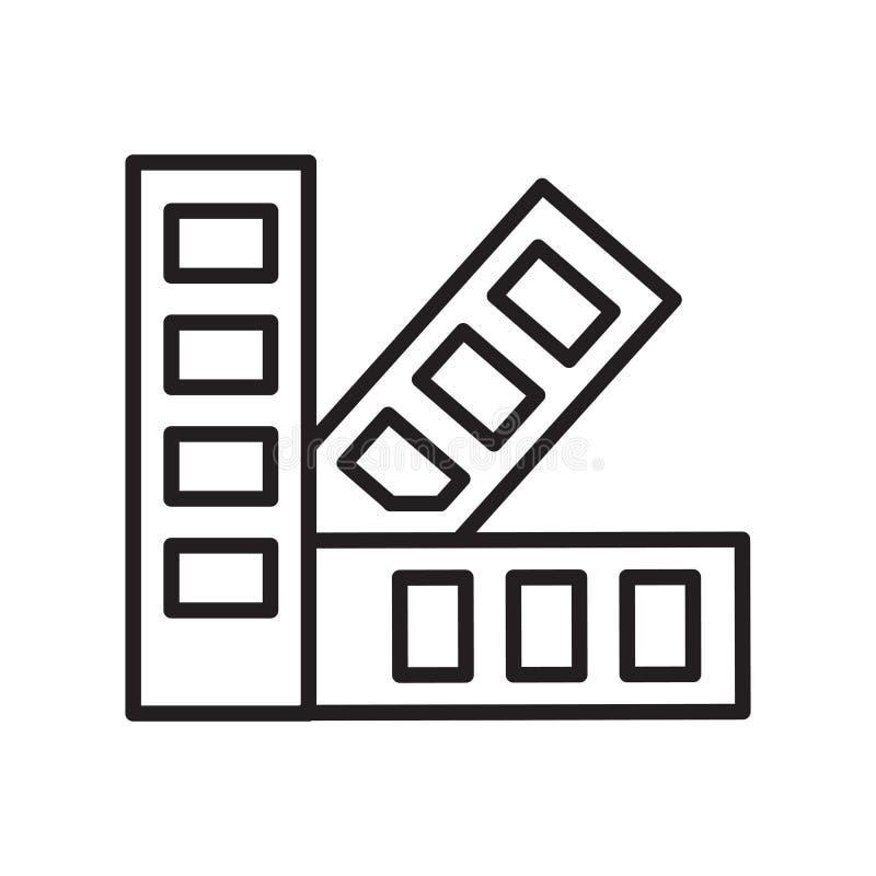 Vector del icono de la paleta aislado en el fondo blanco, muestra de la paleta libre illustration
