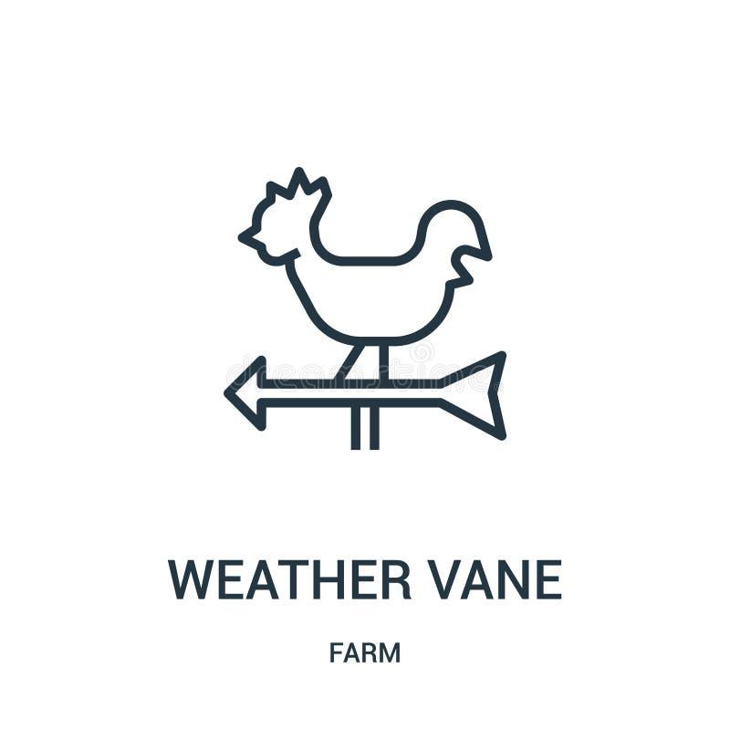 vector del icono de la paleta de tiempo de la colección de la granja Línea fina ejemplo del vector del icono del esquema de la pa ilustración del vector
