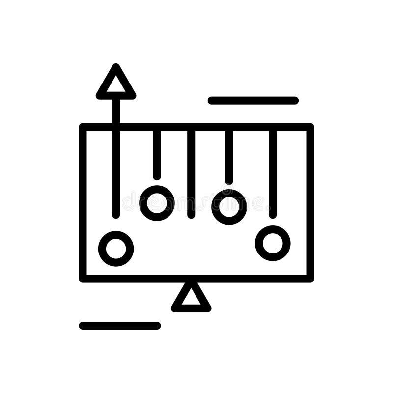 Vector del icono de la pendiente aislado en el fondo, la muestra de la pendiente, la línea y los elementos blancos del esquema en ilustración del vector