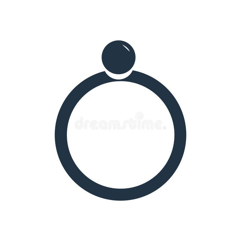Vector del icono de la perla aislado en el fondo blanco, muestra de la perla stock de ilustración