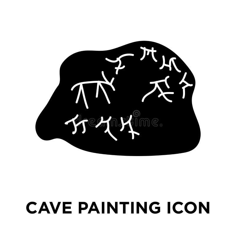 Vector del icono de la pintura de cuevas aislado en el fondo blanco, estafa del logotipo libre illustration