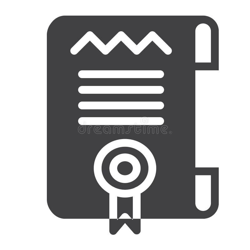 Vector del icono de la plantilla del certificado o del diploma stock de ilustración