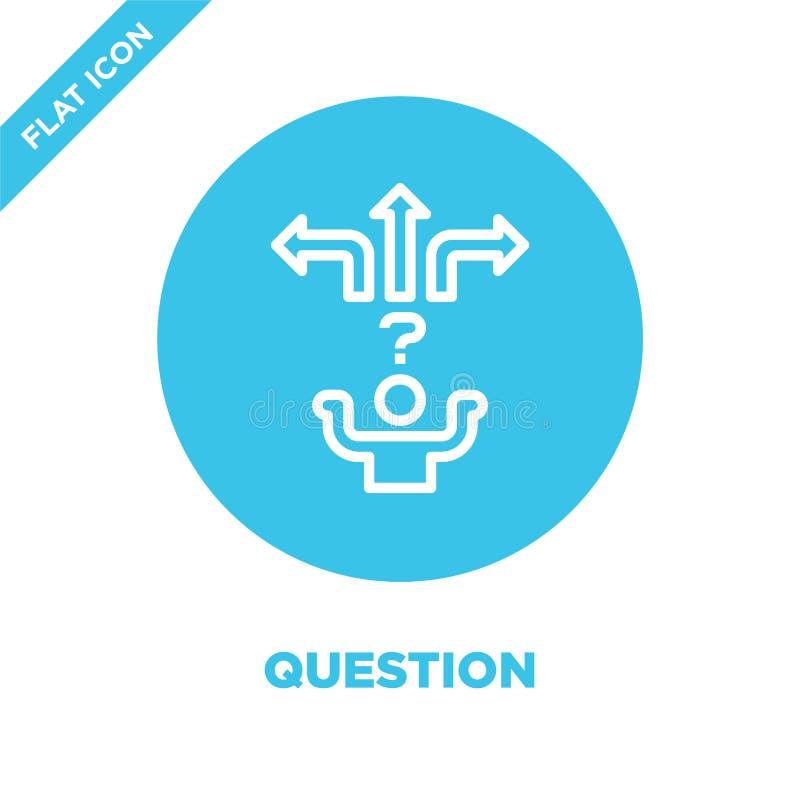 Vector del icono de la pregunta Línea fina ejemplo del vector del icono del esquema de la pregunta símbolo de la pregunta para el libre illustration