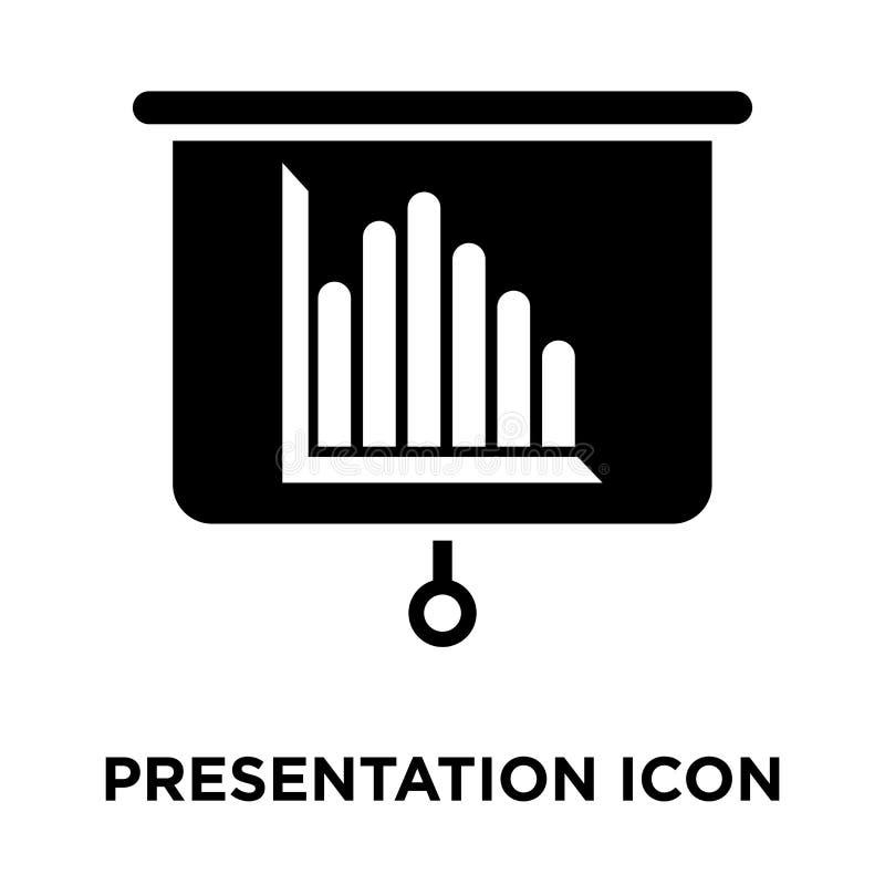 Vector del icono de la presentación aislado en el fondo blanco, logotipo concentrado stock de ilustración