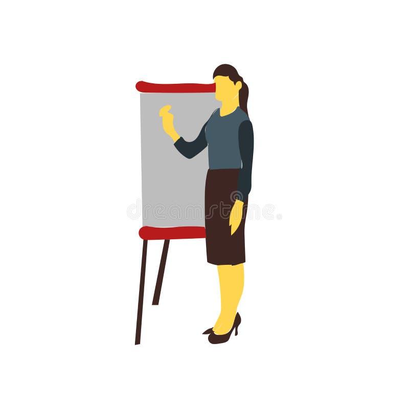 Vector del icono de la presentación aislado en el fondo blanco, muestra de la presentación stock de ilustración