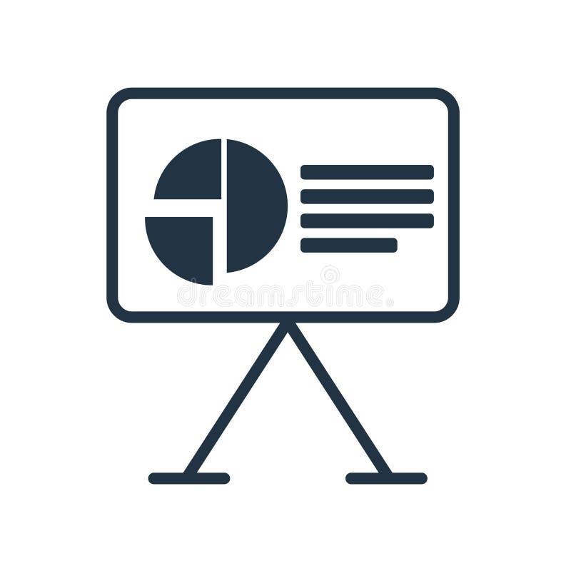 Vector del icono de la presentación aislado en el fondo blanco, muestra de la presentación libre illustration