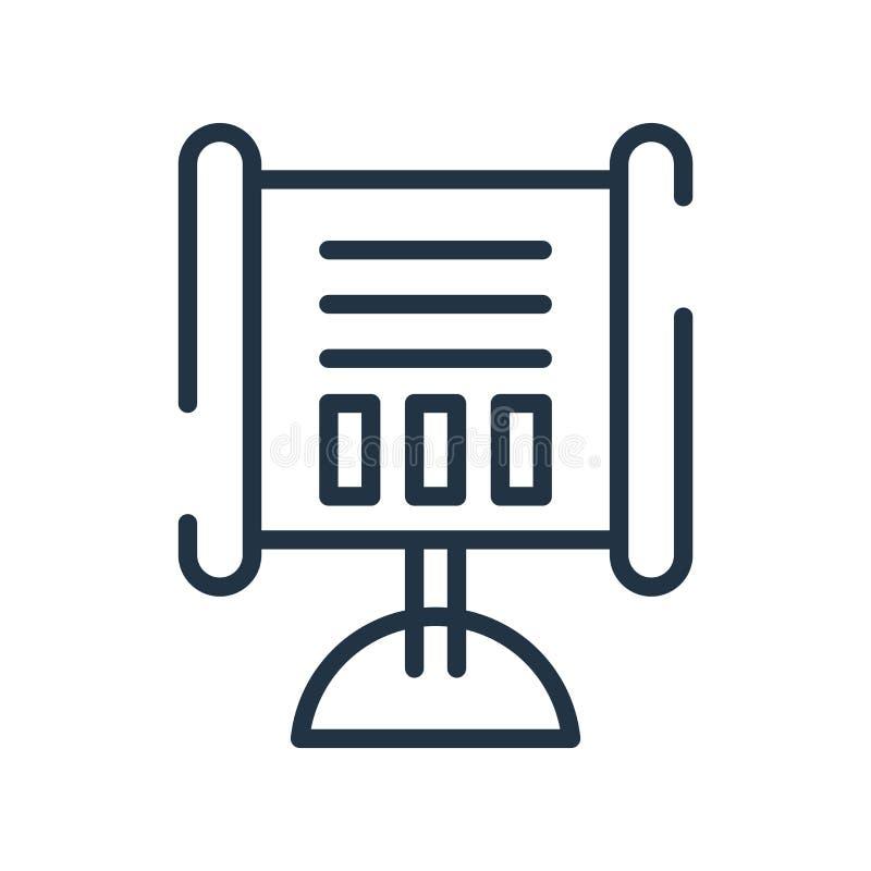 Vector del icono de la presentación aislado en el fondo blanco, Presentat stock de ilustración