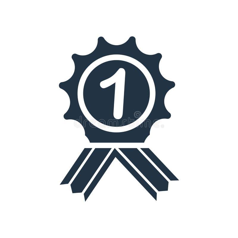 Vector del icono de la recompensa aislado en el fondo blanco, muestra de la recompensa ilustración del vector