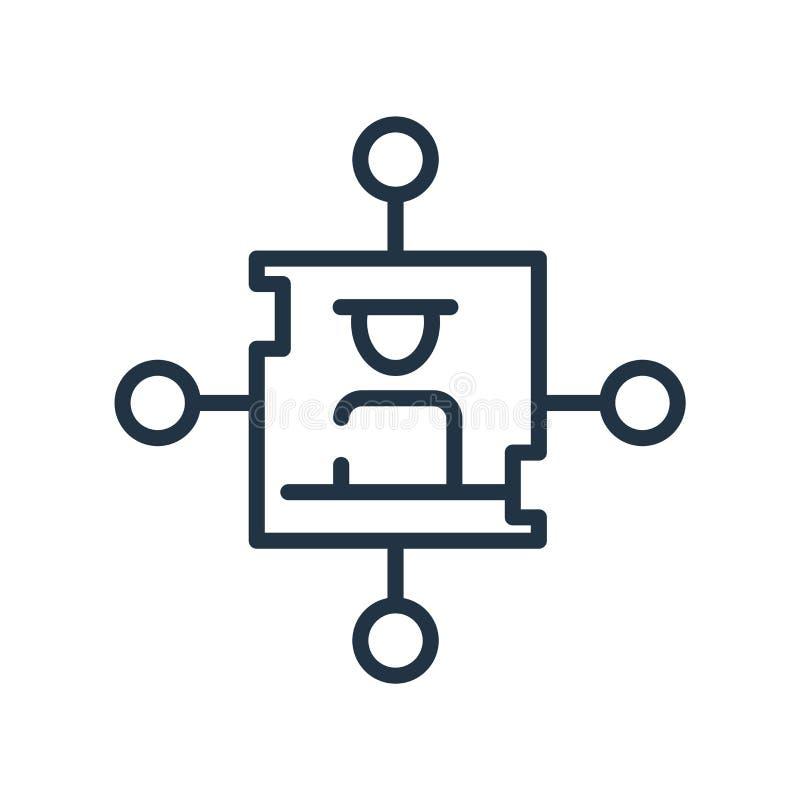 Vector del icono de la red aislado en el fondo blanco, la muestra de la red, la línea símbolo o el diseño linear del elemento en  ilustración del vector