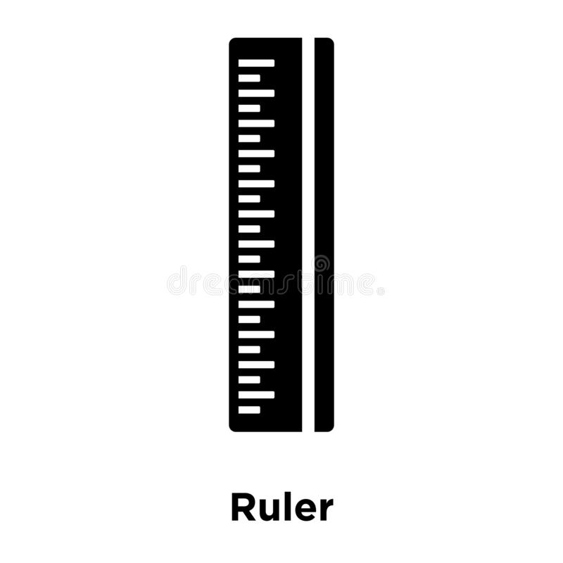 Vector del icono de la regla aislado en el fondo blanco, concepto del logotipo de ilustración del vector