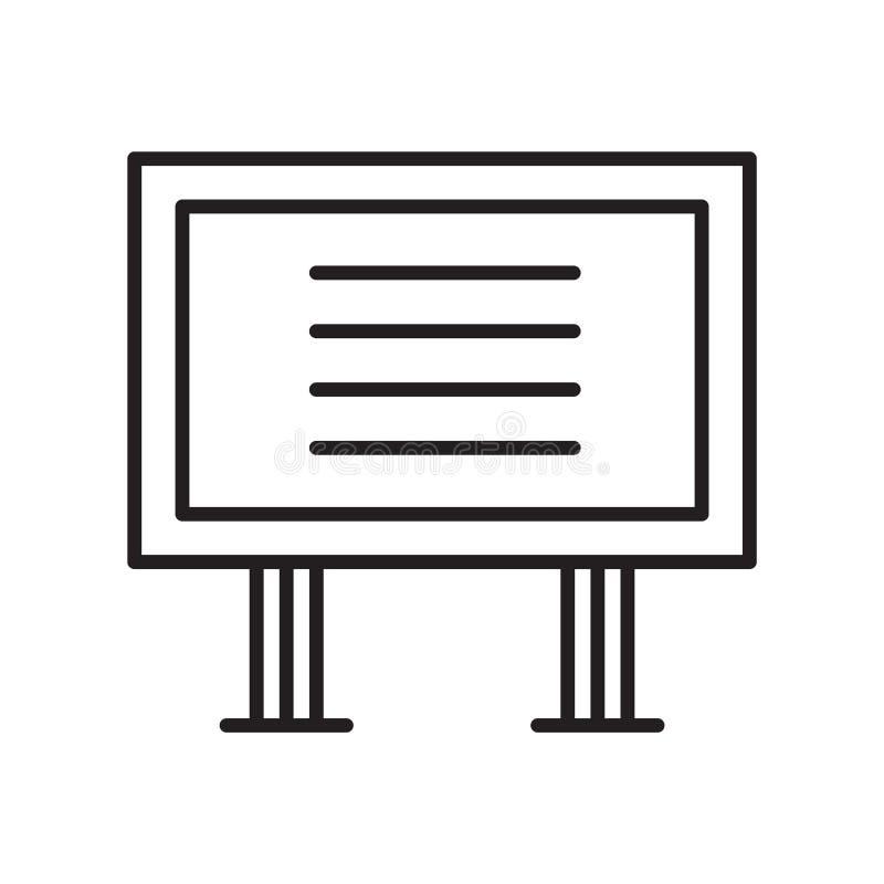Vector del icono de la señal aislado en el fondo blanco, muestra de la señal, línea fina elementos del diseño en estilo del esque libre illustration