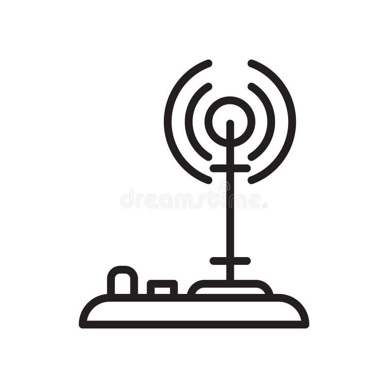 Vector del icono de la señal aislado en el fondo blanco, muestra de la señal, l stock de ilustración