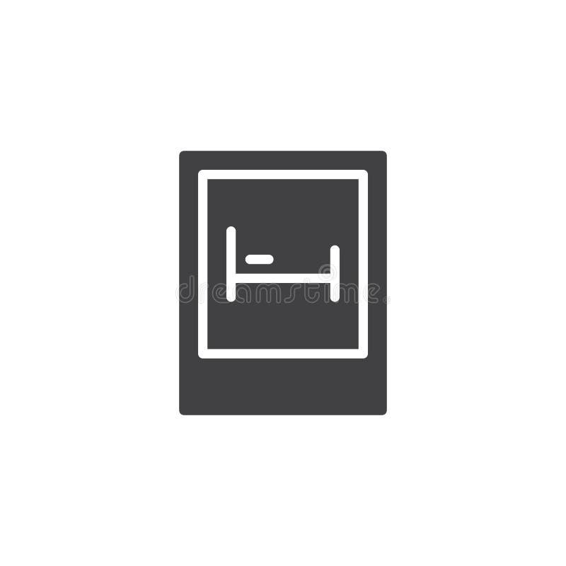 Vector del icono de la señal de tráfico del motel libre illustration