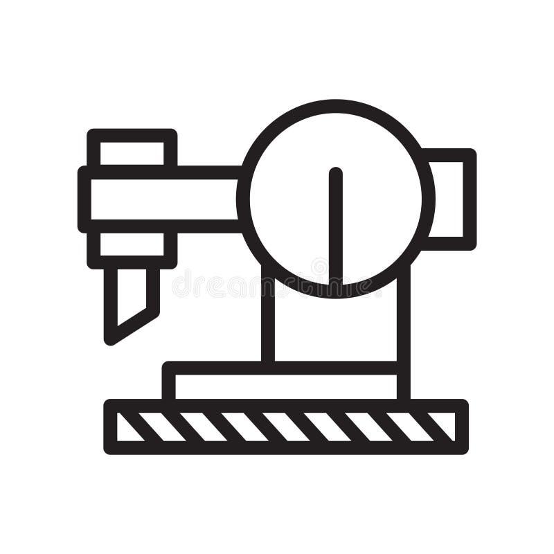 Vector del icono de la segueta aislado en el fondo blanco, la muestra de la segueta, la línea símbolo o el diseño linear del elem stock de ilustración