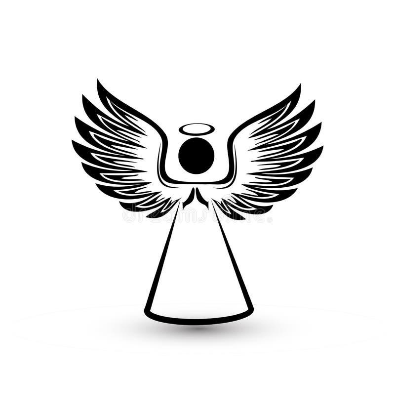 Vector del icono de la silueta del ángel libre illustration
