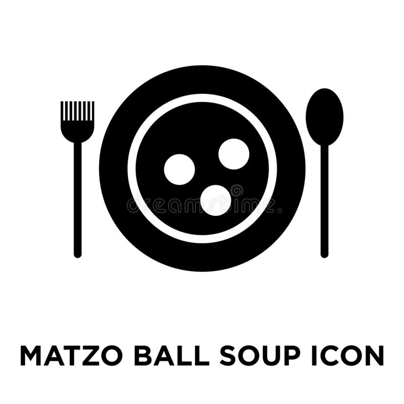 Vector del icono de la sopa de la bola de Matzo aislado en el fondo blanco, logotipo c ilustración del vector
