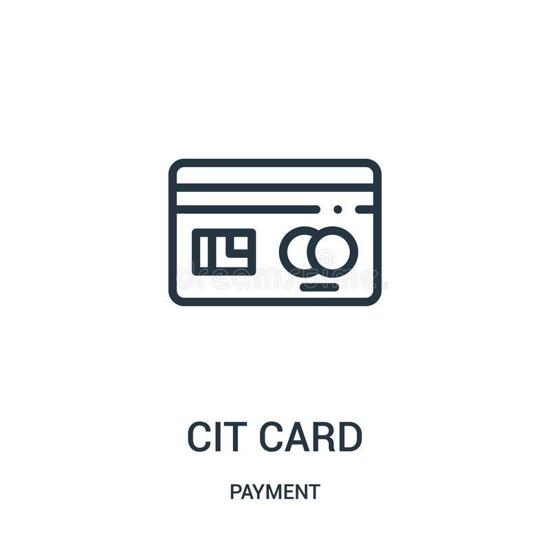 vector del icono de la tarjeta de cr?dito de la colecci?n del pago L?nea fina ejemplo del vector del icono del esquema de la tarj ilustración del vector