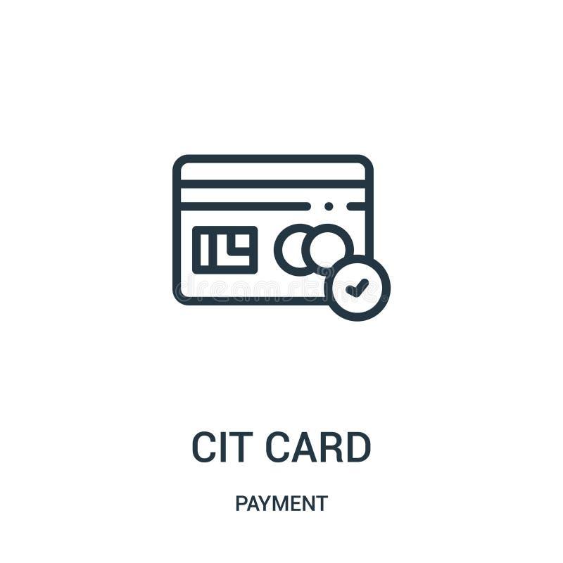 vector del icono de la tarjeta de cr?dito de la colecci?n del pago L?nea fina ejemplo del vector del icono del esquema de la tarj stock de ilustración