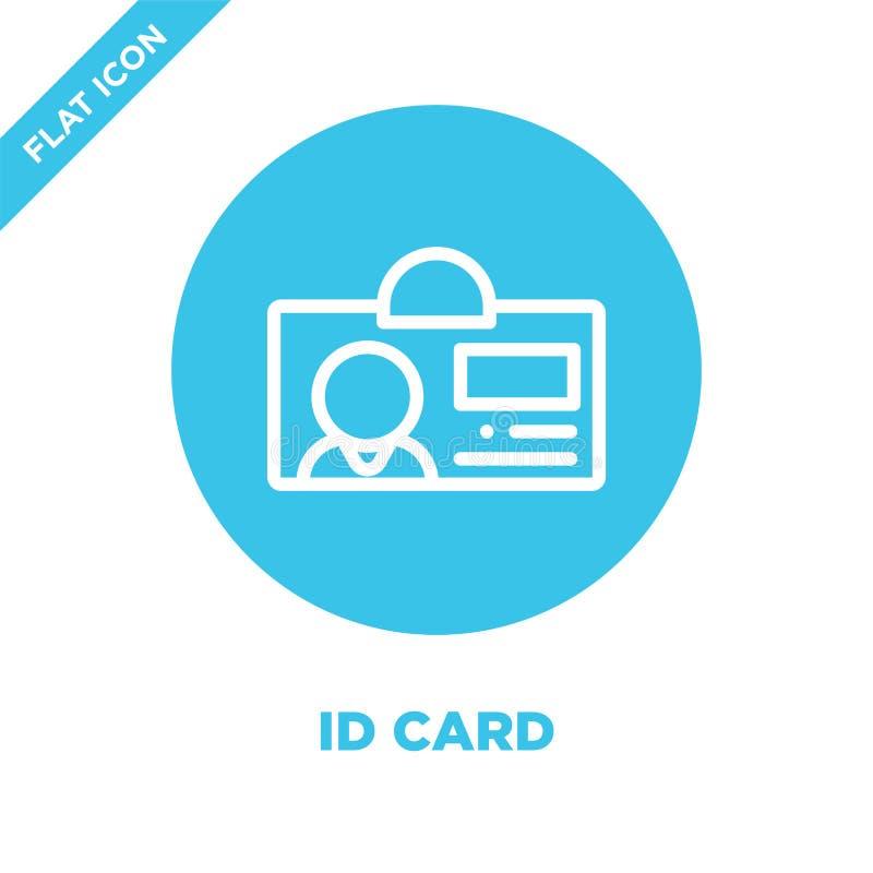 Vector del icono de la tarjeta de la identificación Línea fina ejemplo del vector del icono del esquema de la tarjeta de la ident ilustración del vector
