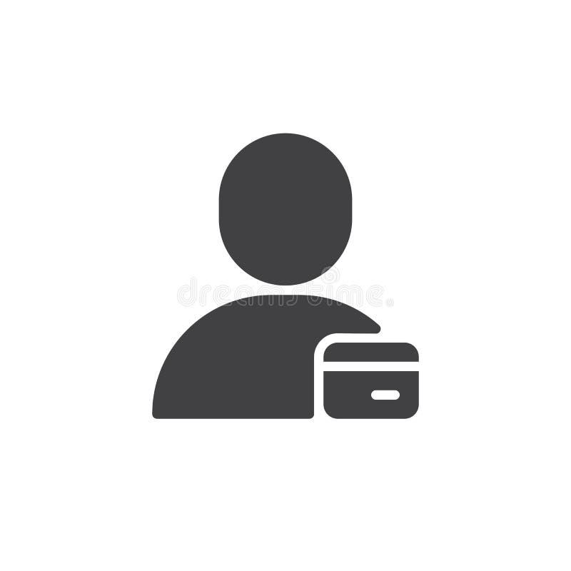 Vector del icono de la tarjeta de la identificación del usuario ilustración del vector