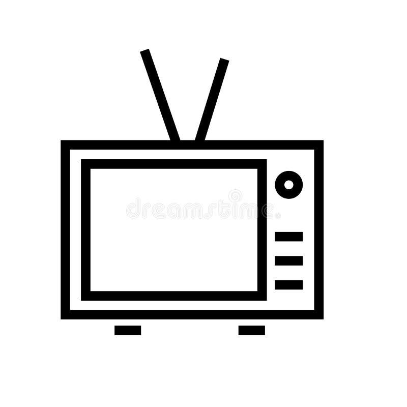 Vector del icono de la televisi?n stock de ilustración