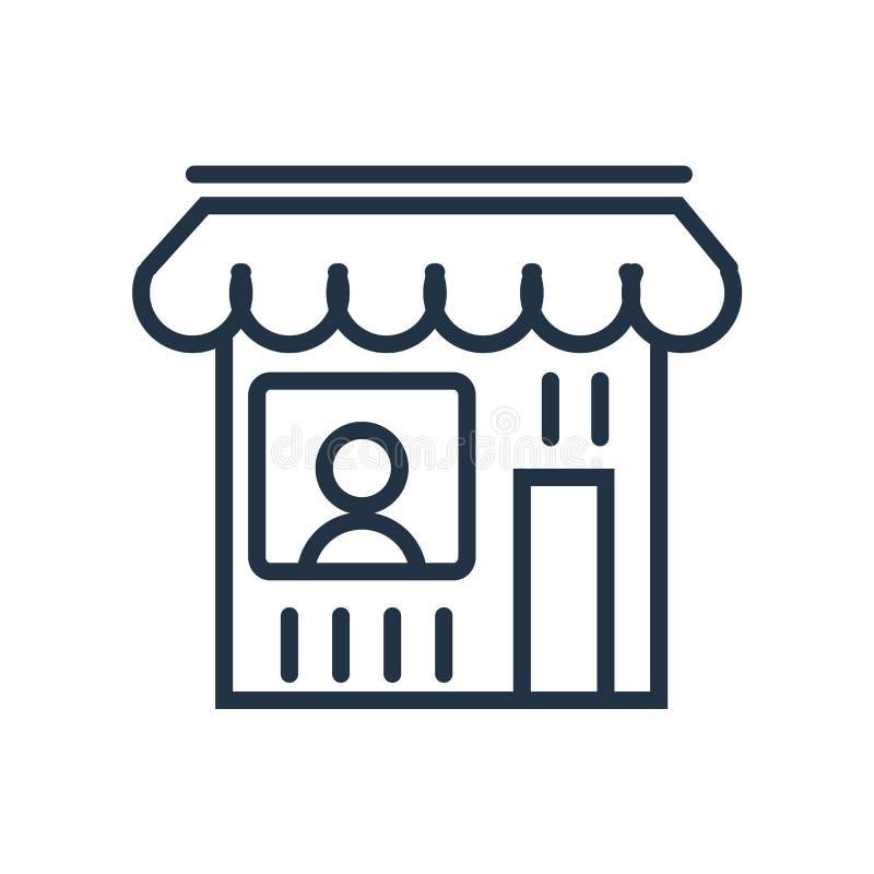 Vector del icono de la tienda aislado en el fondo blanco, muestra de la tienda ilustración del vector