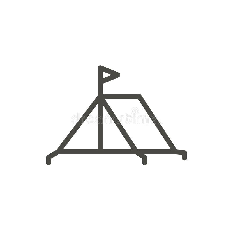 Vector del icono de la tienda Línea símbolo que acampa aislado Outl plano de moda ilustración del vector